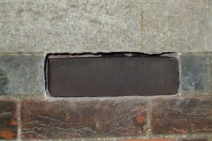 Black brick sample in place