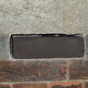 Black brick sample in place